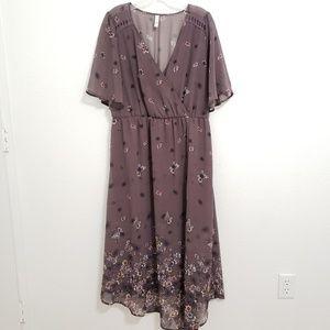 Xhilaration | Dusty Purpke Floral Dress
